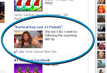 Rachael Ray Weight Loss Ad Scam