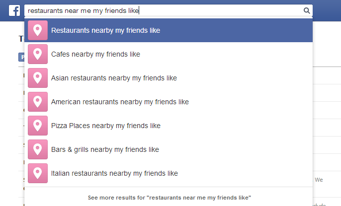 "search: ""restaurants near me my friends like"""