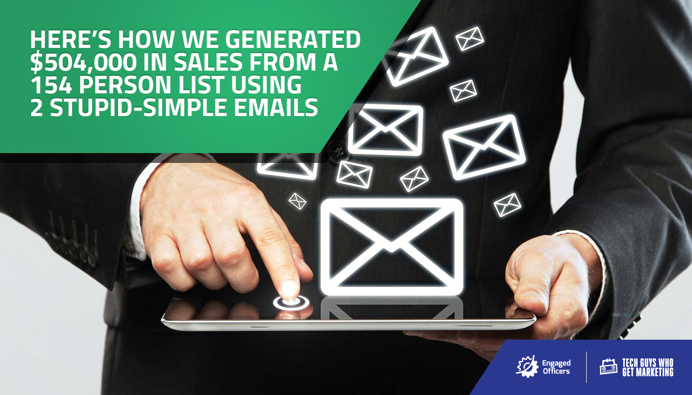 $504k from 2 emails; here's how to win at email marketing